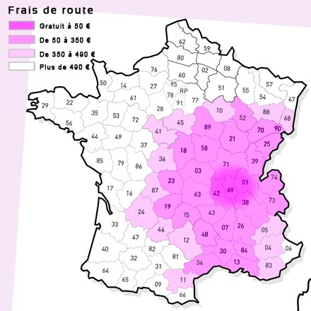 Carte Frais de route Sonolune Animation